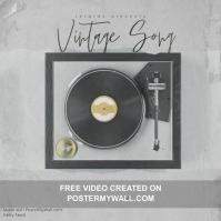 Vintage Song Mixtape Video Album Cover Template