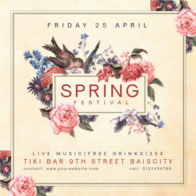 Vintage Spring Event Festival Invitation
