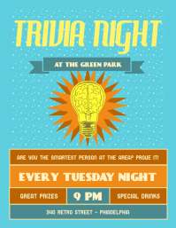 Vintage Trivia Night Flyer