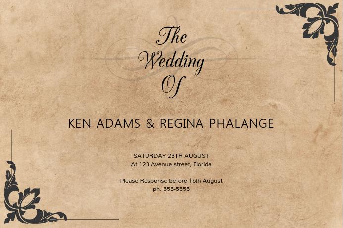 Vintage Wedding Invitation Templates | Vintage Wedding Invitation Template Postermywall