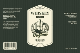 Vintage Whiskey Label Template