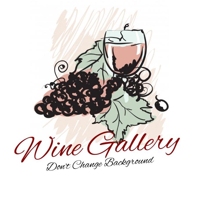 Vintage Wine bar / gallery / enoteca logo Logótipo template