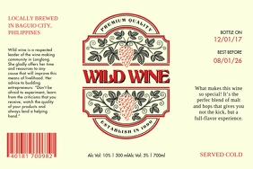Vintage Wine Label Ilebula template