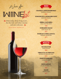 Vintage Wine List Menu Flyer template