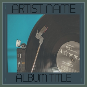 VINYL ALBUM COVER TEMPLATE