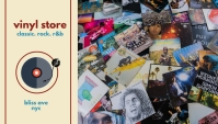 Vinyl Store Cabeçalho de blogue template