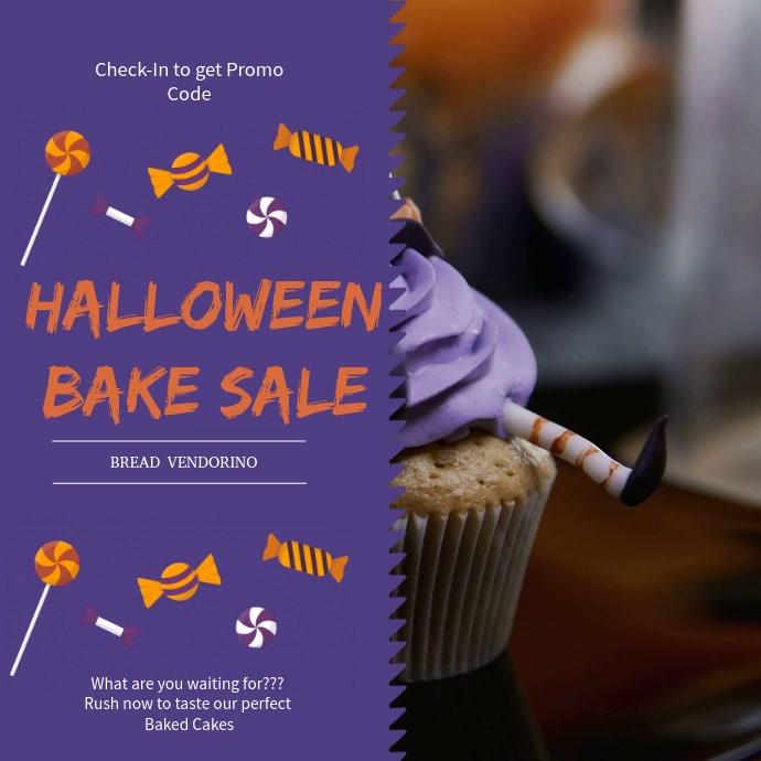 Violet Bake Sale Video Ad Template Quadrato (1:1)