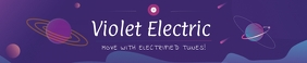 Violet Electric Music Soundcloud Banner template