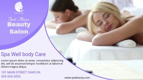 Violet Spa Display Facebook Cover Video Template