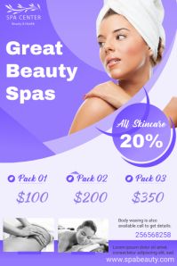 Violet Spa Poster Price List Template