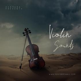Violin Classic Music Cover Art Template Ikhava ye-Albhamu