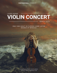 Violin concert flyer template