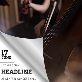Violin concert orchestra video template