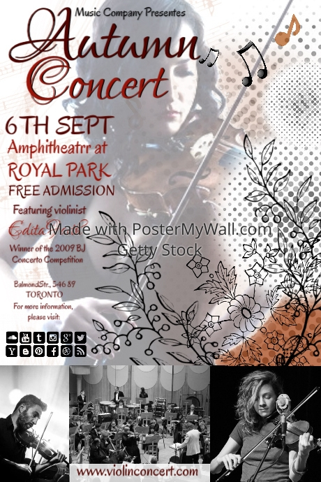 violin concert6 template postermywall