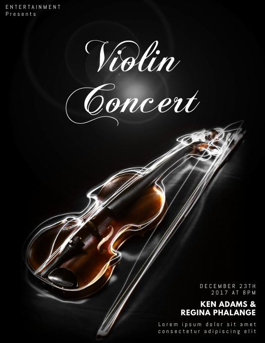 Violin Flyer Template