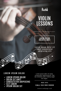 Violin Lessons Flyer Design Template