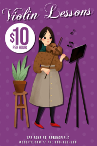 Violin Lessons Poster
