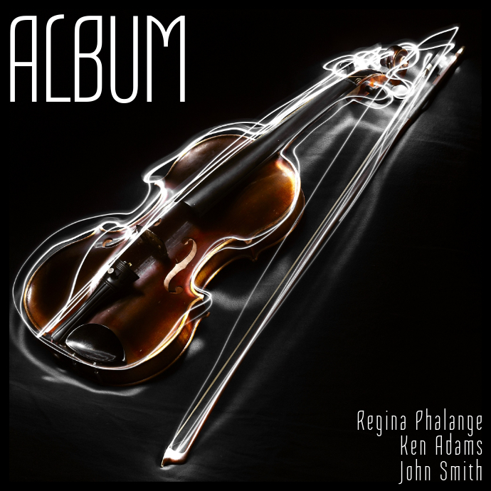 Violin music Album Cover Template