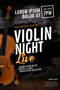 Violin Night Flyer Design Template