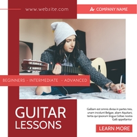 violinist lessons advertising instagram post template