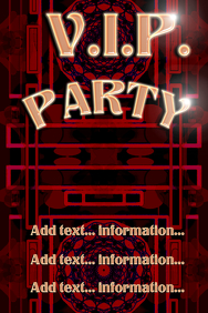 VIP ( V.I.P. ) Party poster template