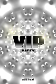 VIP ( V.I.P. ) Party poster template in silver