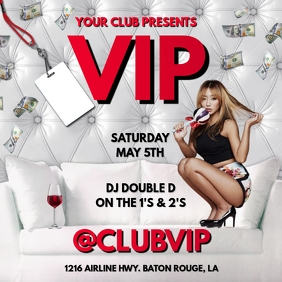 VIP ALL WHITE CLUB FLYER TEMPLATE
