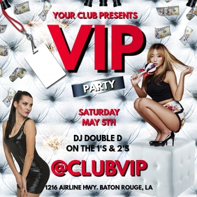 VIP ALL WHITE PARTY CLUB FLYER TEMPLATE