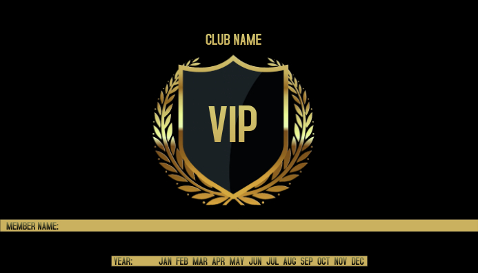VIP Business Card template