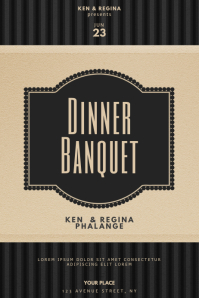 Vip Dinner Banquet Flyer Design Template