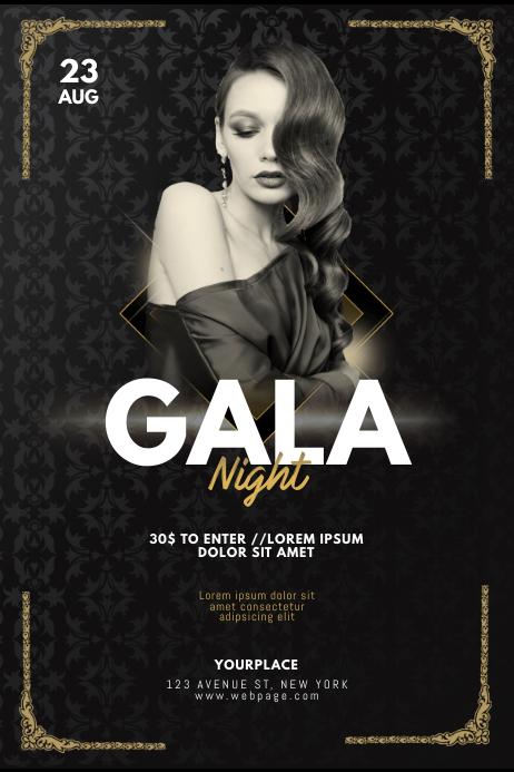 VIP Gala Prom Gala Night Flyer Template