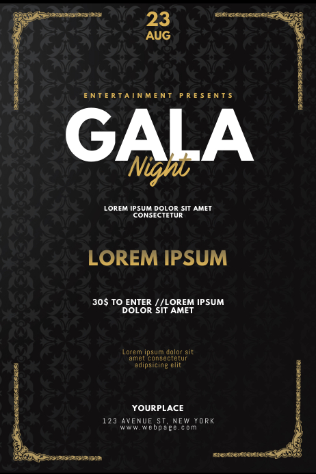 VIP Gentleman Prom Gala Night Flyer Template