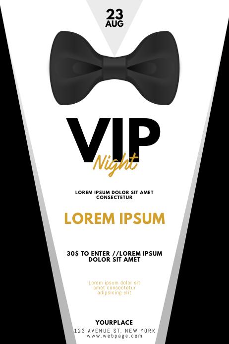 VIP Gentleman Prom Night Flyer Template