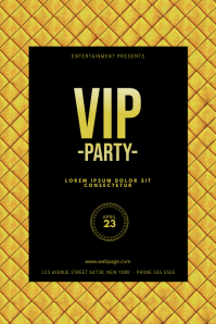 Vip Gold Party Flyer Template