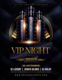 VIP NIGHT Flyer Template 传单(美国信函)