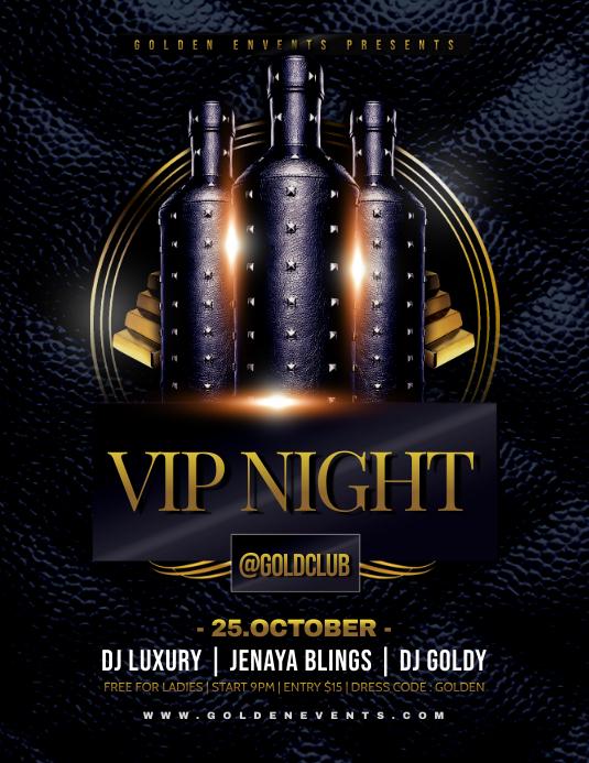 VIP NIGHT Flyer Template Volantino (US Letter)