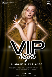 vip night party flyer template