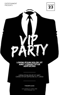 Vip Party Flyer Design Template Kindle-omslag