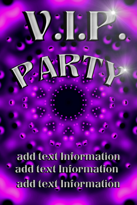VIP party - purple