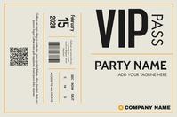 vip pass template design ticket Banner 4' × 6'