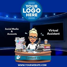 Virtual Assistant Office Carré (1:1) template