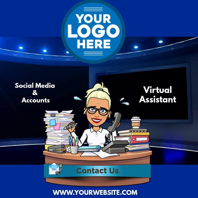 Virtual Assistant Office Kvadrat (1:1) template