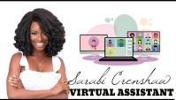 Virtual assistant services business card Besigheidskaart template