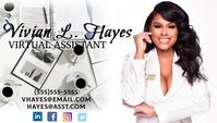 Virtual assistant services business card Kartu Bisnis template