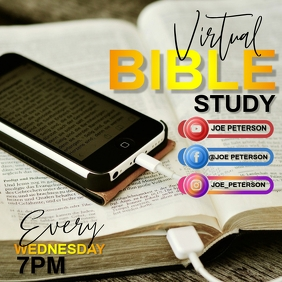 VIRTUAL BIBLE STUDY AD TEMPLATE Square (1:1)