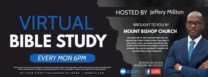 Virtual bible study Facebook Omslag Foto template