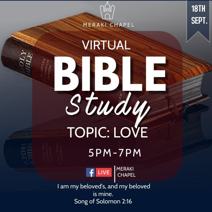 Virtual Bible Study 方形(1:1) template