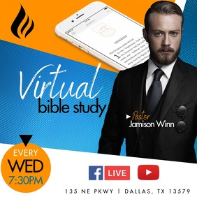 Virtual Bible Study Instagram Post template