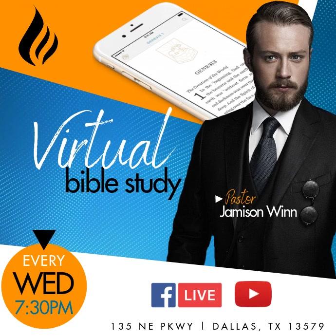 Virtual Bible Study โพสต์บน Instagram template