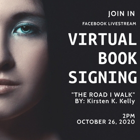 Virtual Book Signing Facebook Live event Instagram Post template